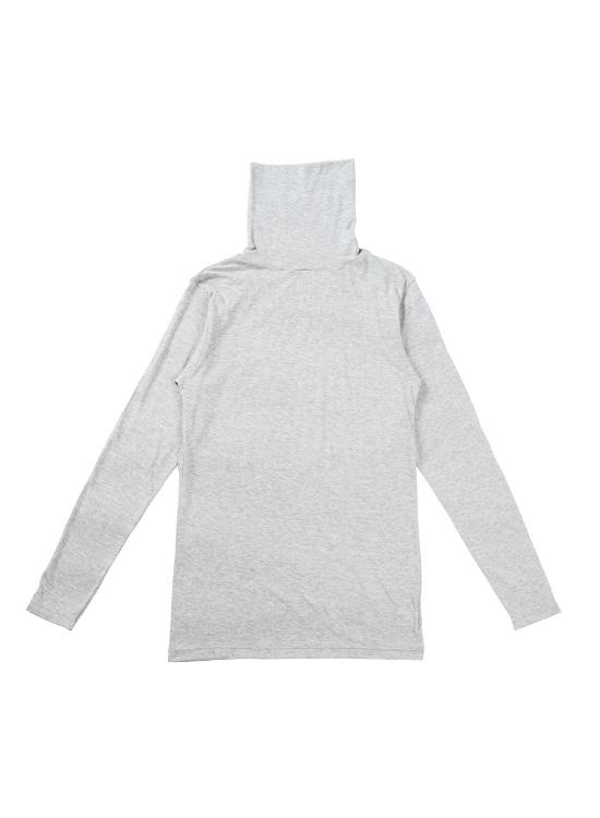 タートルネックシャツ(グレー杢)