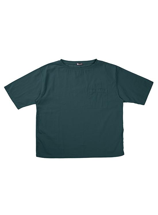 ボタニカルダイ 綿ちぢみTシャツ(マルベリー/桑の実)