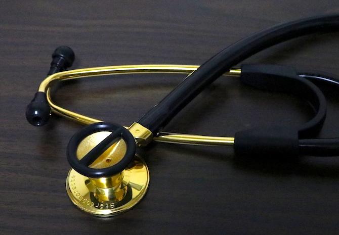ケンツメディコ 聴診器 ステレオフォネット GOLD No.171