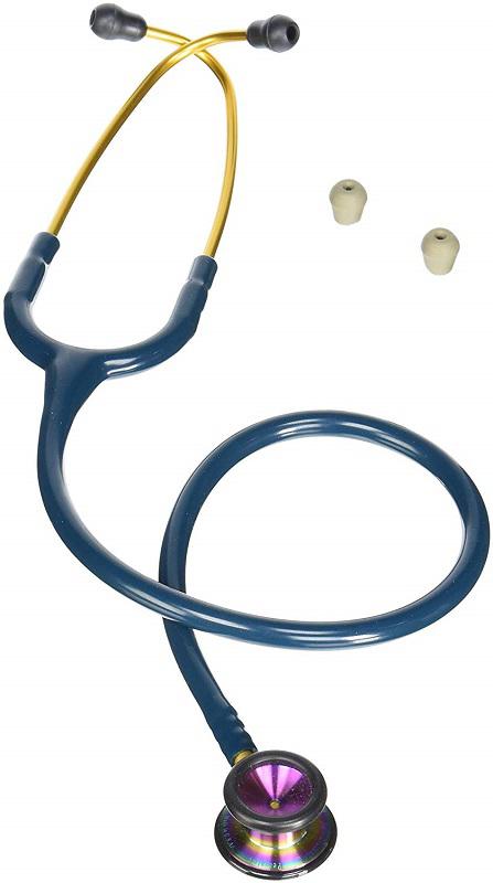 リットマン 聴診器 クラシック� (小児用) カリビアンブルー(レインボウ加工)