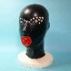 【Latex Moscow】Anatomical Latex Mask:C ※Perforated Eyes[Black×Red][M][L][XL]
