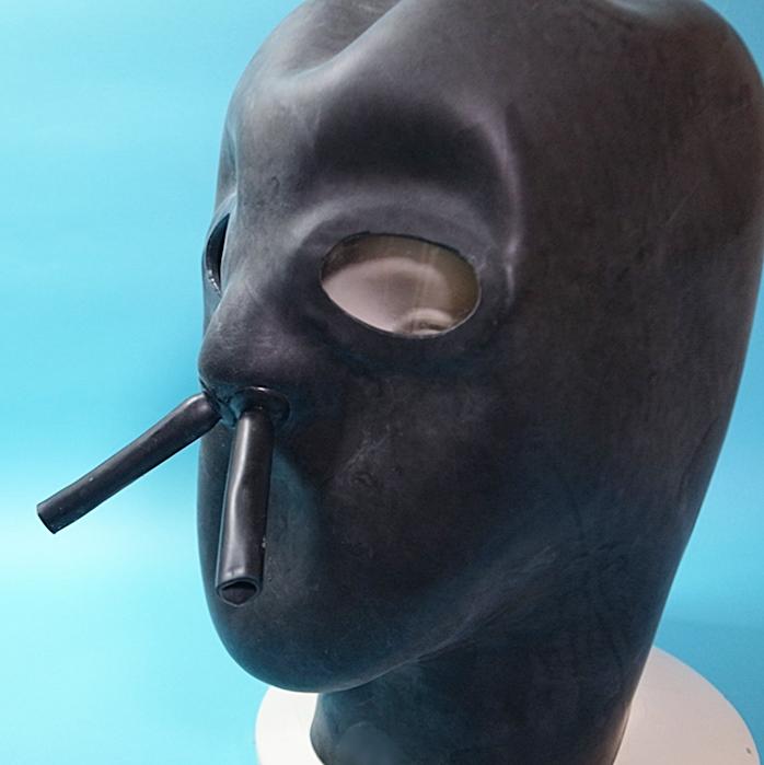 【STUDIO GUM】Latex Mask Close※レンズ有[BLACK][40](M〜Lサイズ目安)