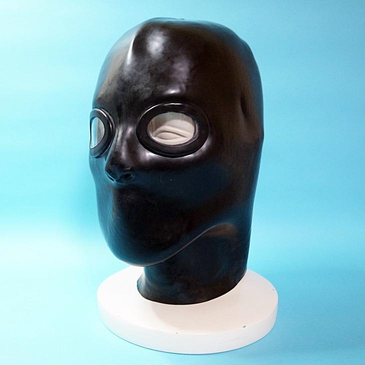 【STUDIO GUM】Latex Mask Close※レンズ有[BLACK]
