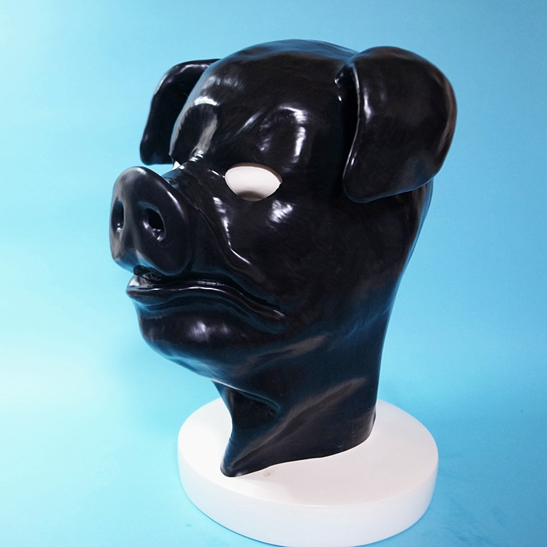 【Secret Latex】Pig Hood[Black]