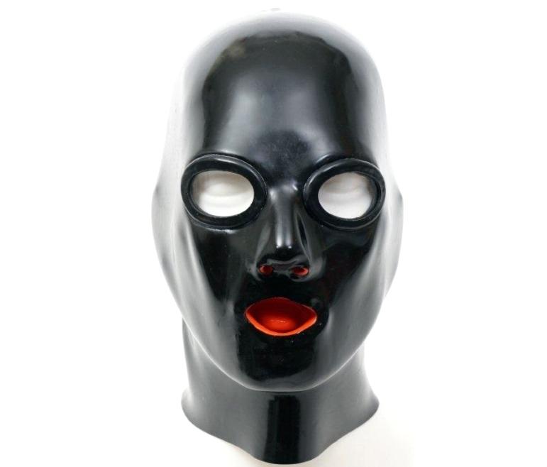 【STUDIO GUM】Anatomical Latex Mask※レンズ有[BLACK][42](Lサイズ目安)