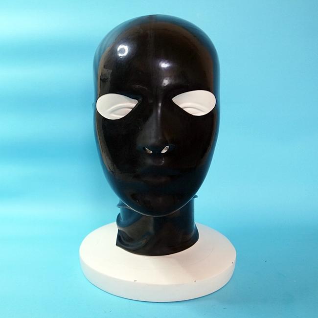 【Latex-Maske】Anatomical Mask with Zipper(アイ&ノーズホール)[Black][One Size]※ファスナー有