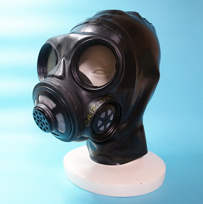 【Bizarre-Rubber-Shop】Canadian Gas Mask with Hood[Black]