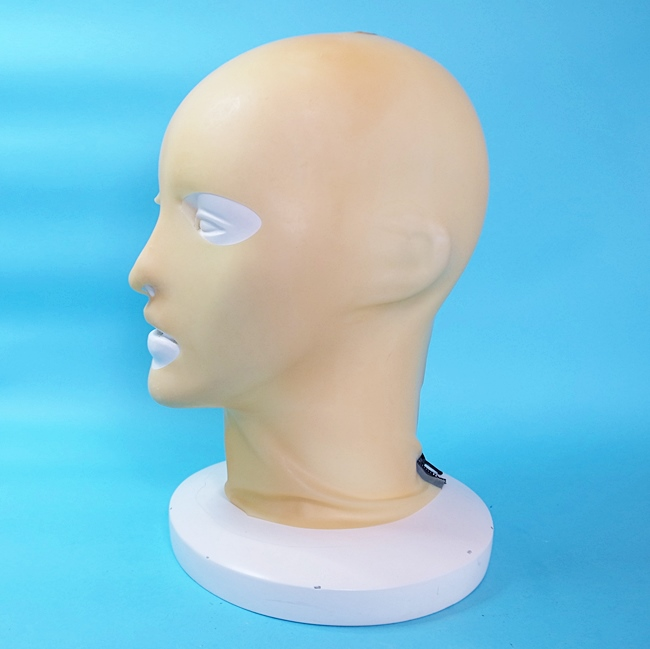 【Latex-Maske】Anatomical Mask with Zipper(アイ・ノーズ・マウスホール)[Transparent][One Size]※ファスナー有