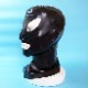 【Latexa】Mask with Contrast Colour Around Eyes and Mouth[Black×Black][One Size]