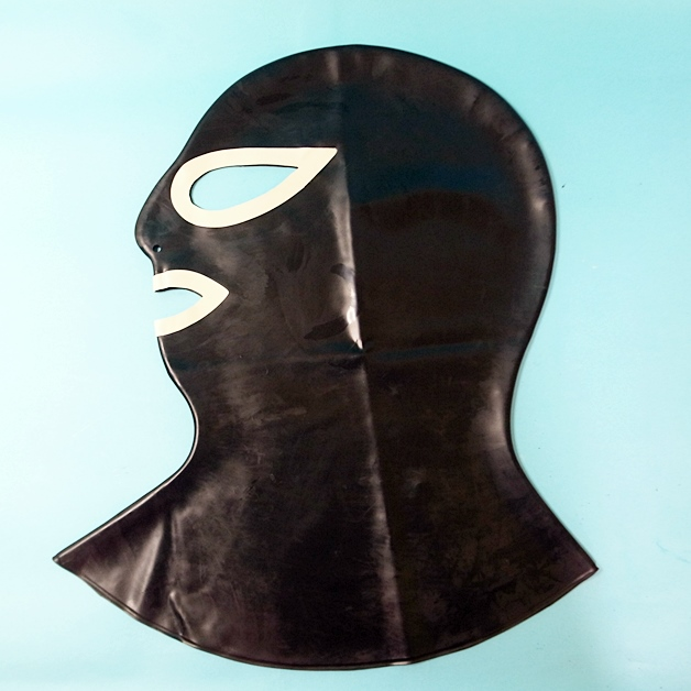 【Latexa】Mask with Contrast Colour Around Eyes and Mouth[Black×White][One Size]