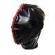 【Bizarre Rubber Shop】Mask with Front Flaps[Black×Red Zippers]