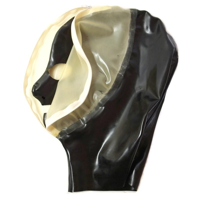 【Latextil】Face Zip[Black×Semi-Transparente][M][L]