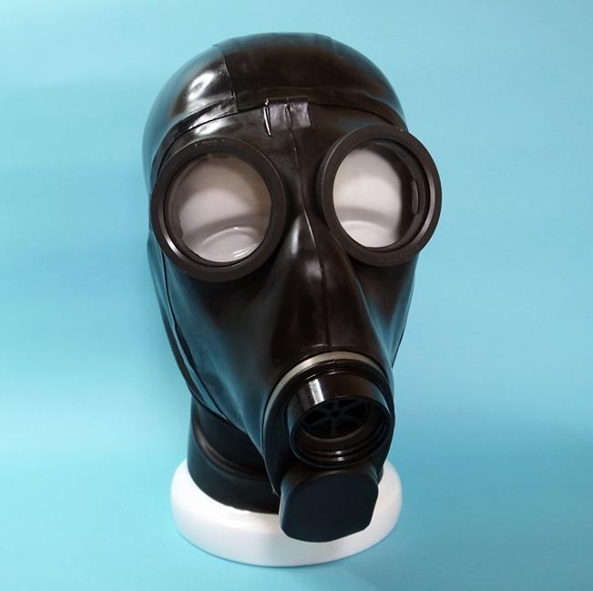 【Bizarre-Rubber-Shop】Swiss SM-67 Gas Mask with Hood[L/XL][Black]