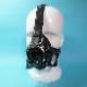 【Rubber Magic】Latex - breath mask with head harness [Black][M][L]