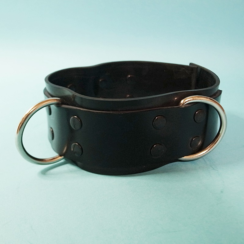【Bizarre-Rubber-Shop】Collar 5.5w with 3 D-Rings[Black]