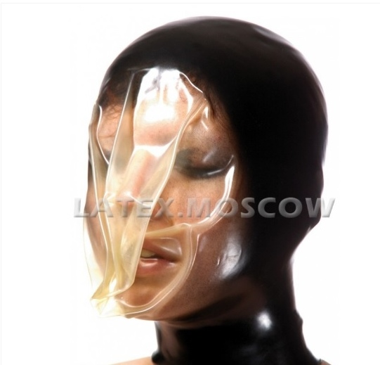 【Latex Moscow】Anatomical Latex Re-Breath Mask [S/M][L/XL][Black×Transparent]