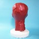 【Latex Moscow】Anatomical Latex Mask with Zippers[L][Metallic Red]