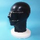 【Latex Moscow】Anatomical Latex Mask with Zippers[M][Black]