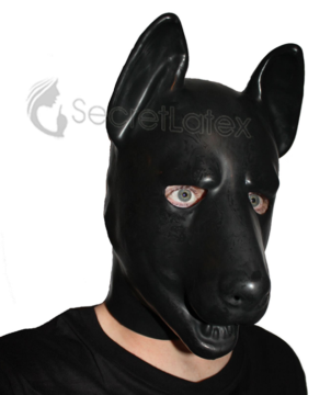 【Secret Latex】German Shepherd Hood [Black]