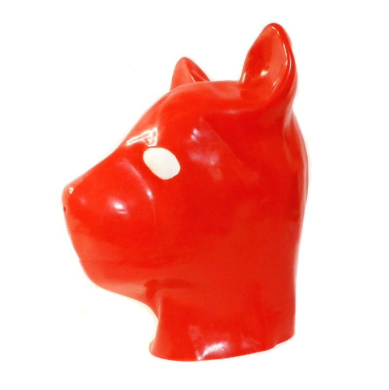 【Secret Latex】Canine Hood[Red][One Size]