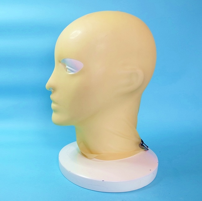 【Latex-Maske】Anatomical Mask with Zipper(アイ&ノーズホール)[TRANSPARENT][One Size]※ファスナー有