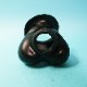 【Bizarre-Rubber-Shop】Testicle Preservative Anatomically, Rolled Black Rubber[One Size][Black]※厚さ 約0.35ミリ