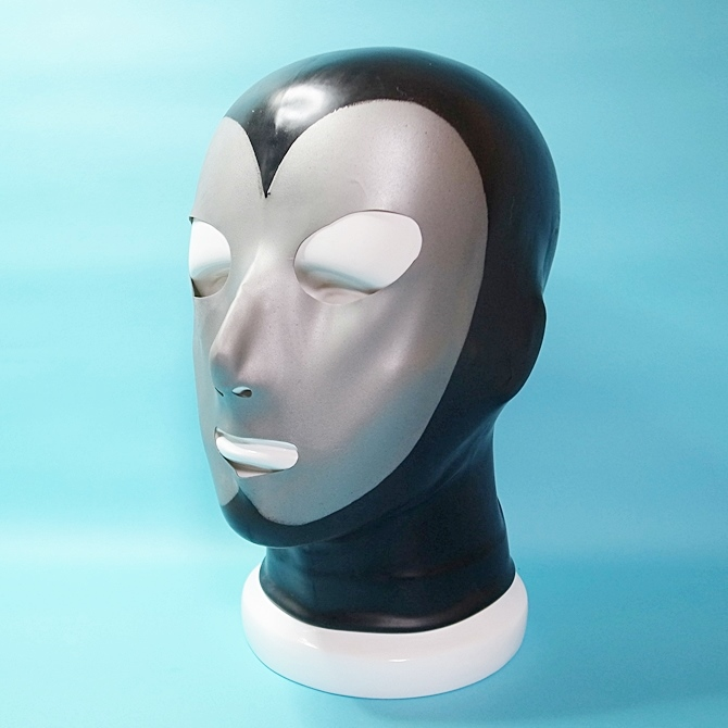 【Latex Moscow】Anatomical Latex Mask[Black×Silver]