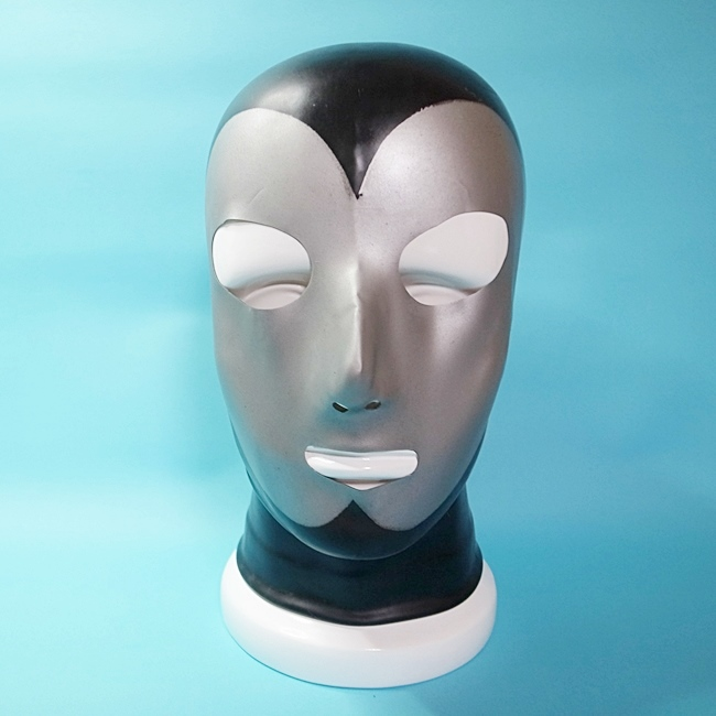 【Latex Moscow】Anatomical Latex Mask[L][XL][Black×Silver]