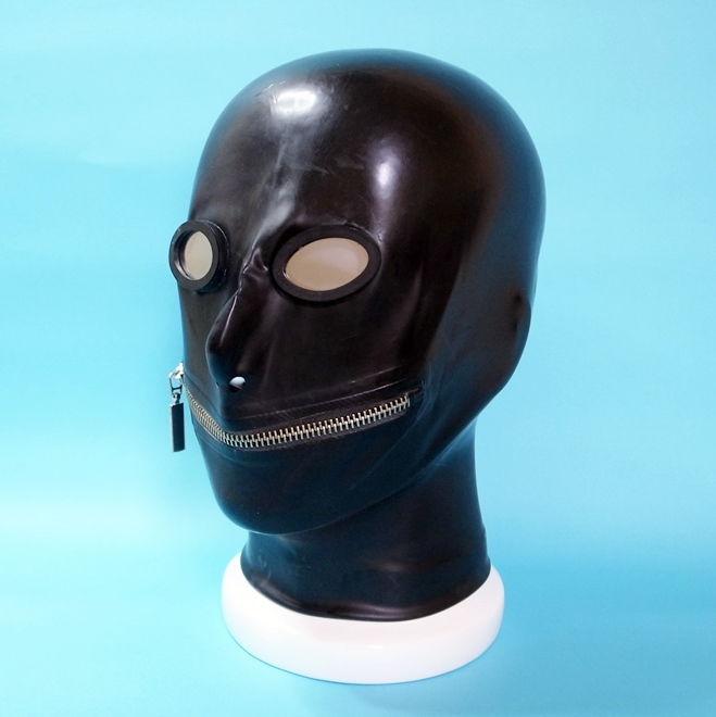 【Latex Moscow】Anatomical Latex Mask:OV×Zip[Black]