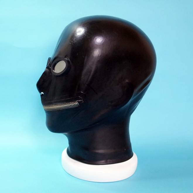 【Latex Moscow】Anatomical Latex Mask:OV×Zip[Black][L][XL]