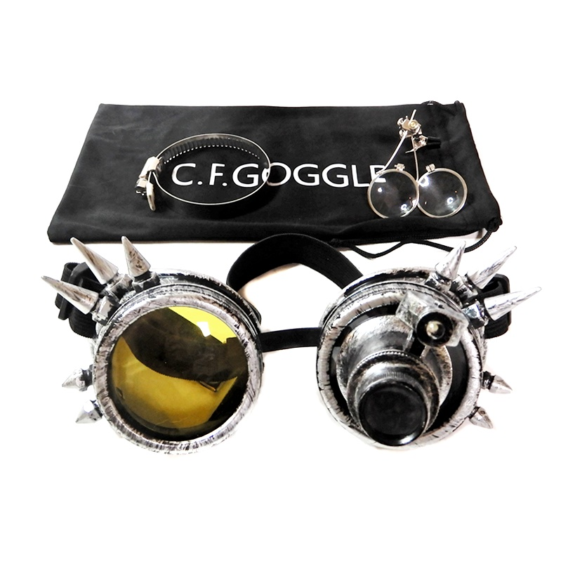 【Goggles】Spiked Goggles[Old Silver]