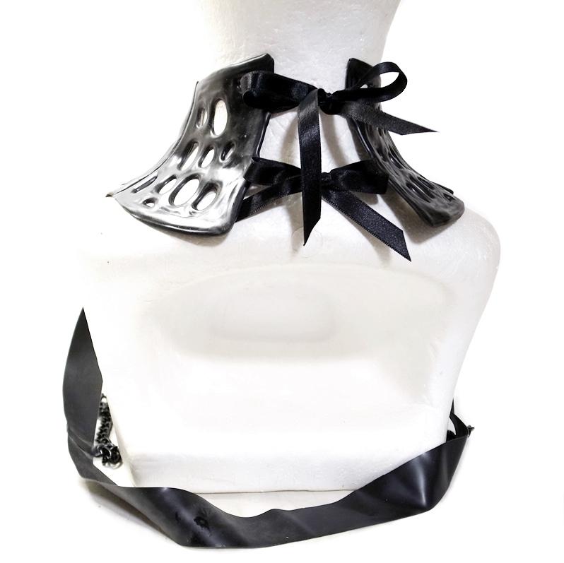 【KATVOODOO Latex Design】LATEX NECKCOLLAR -HARNESS nc06[Black][One Size]