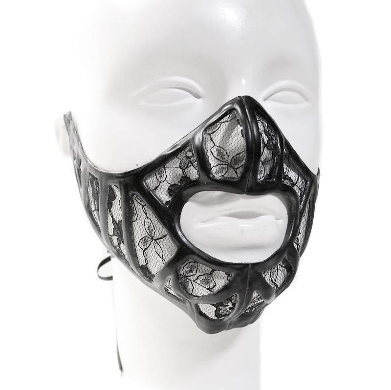【KATVOODOO Latex Design】LATEX MASK FACE al04[Black][One Size]