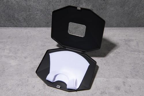 鏡付き まるあ柄(数量限定)SLIMBOX(スリムボックス)抗菌抗ウイルスマスクケース Lサイズ