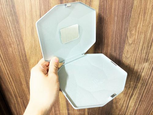 鏡付き メタリック SLIMBOX(スリムボックス)抗菌抗ウイルスマスクケース【世界初!超薄型軽量マグネシウム合金製】
