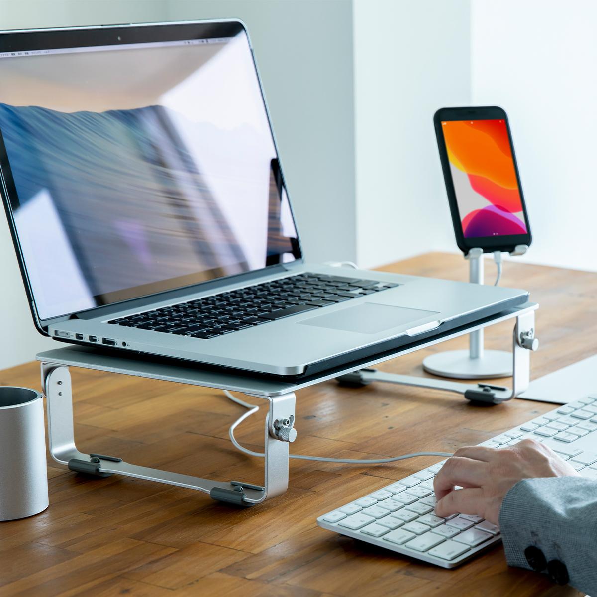 ノートパソコン モニター スタンド
