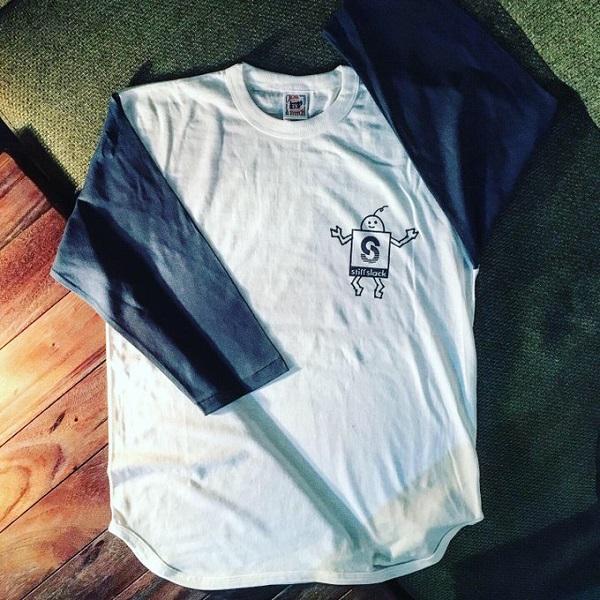 STIFFSLACK / SSくん ベースボールシャツ (WHITE/BLUE)