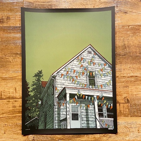 AMERICAN FOOTBALL / The One With The House (no band name)   POSTER