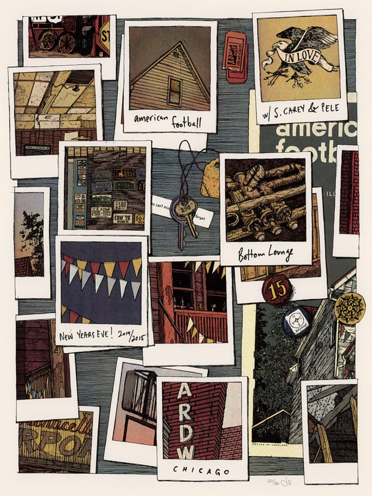 AMERICAN FOOTBALL / NYE in Chicago POSTER