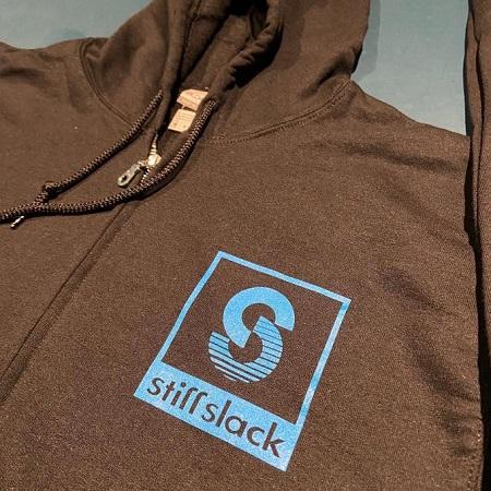 STIFFSLACK / SS LOGO TOP AND BACK ジップアップ パーカー (BLACK)