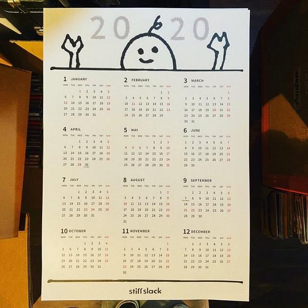 STIFFSLACK / 2020年カレンダー