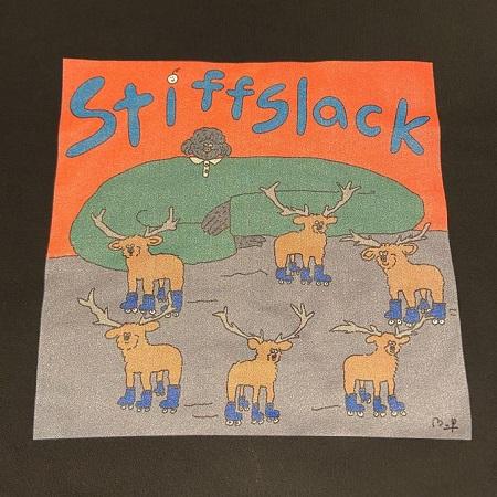 STIFFSLACK / Dog & Deer(s) スウェット(ブラック)
