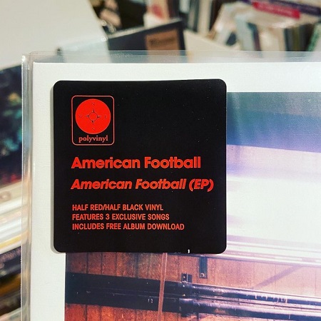 "AMERICAN FOOTBALL / American Football EP 12""(BLACK/RED)+MP3"