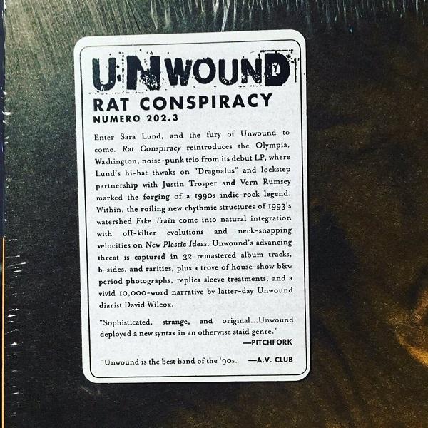 UNWOUND / Rat Conspiracy  3xLP+MP3