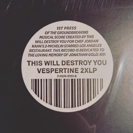 THIS WILL DESTROY YOU / Vespertine  2xLP