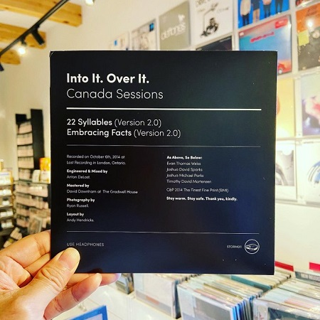 INTO IT. OVER IT. / Canada Sessions  7""