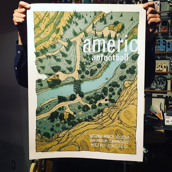 AMERICAN FOOTBALL / LP3 Release Show POSTER