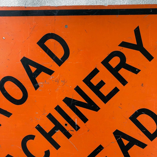 ROAD SIGN [ROAD MACHINERY AHEAD]