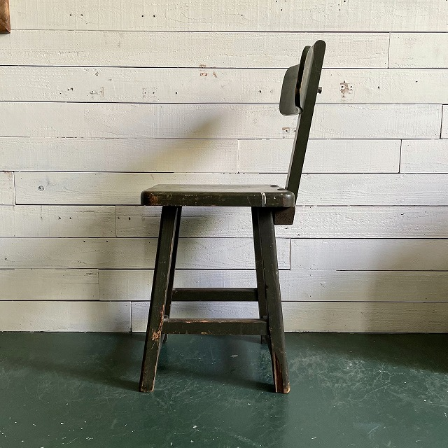 Wooden Army Green Chair
