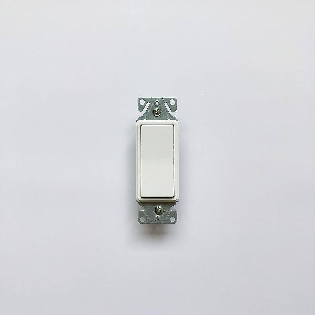 片切ホタルデコレータースイッチ_WH/OR